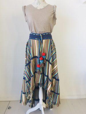 Striped pom pom dress