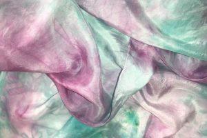 Scarf - Aqua & Rose Pink